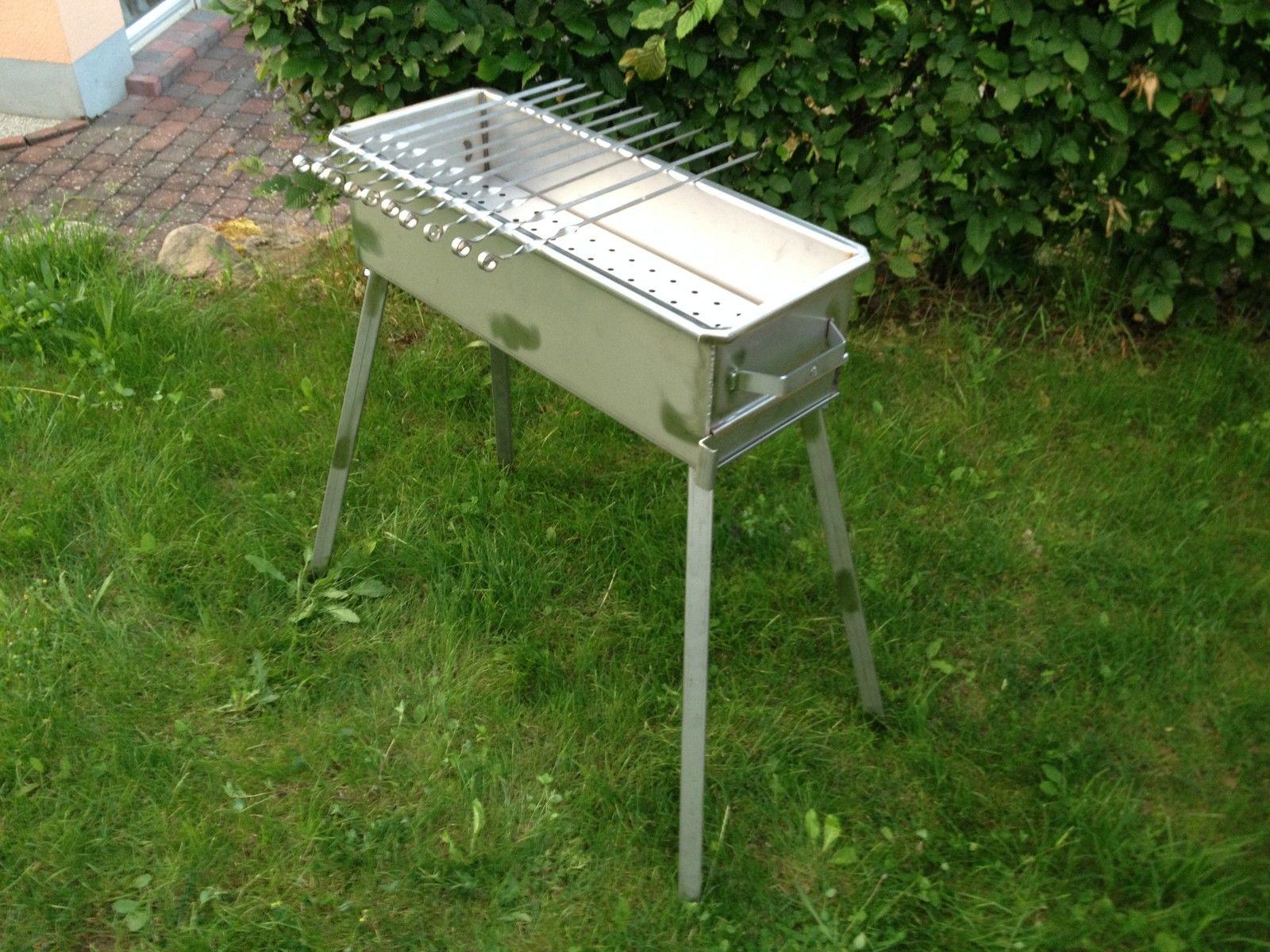edelstahlgrill schaschlik grill mangal aus 3 mm edelstahl v2a ebay. Black Bedroom Furniture Sets. Home Design Ideas